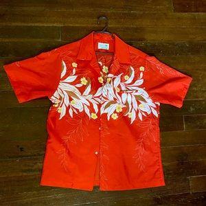 Vintage Sand Pebble of Hawaii red Hawaiian shirt